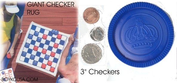 large 3 inch checkers